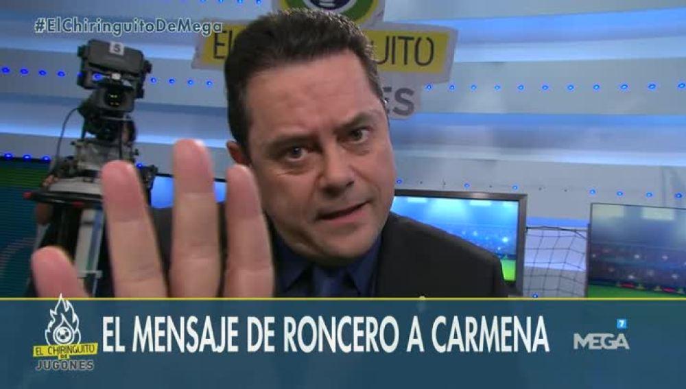 Tomás Roncero y su mensaje