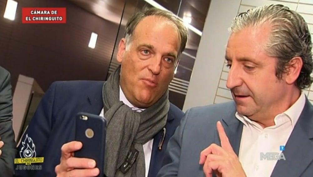 Javier Tebas y Josep Pedrerol