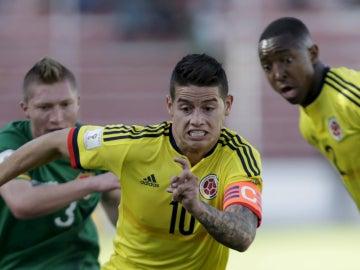 James Rodríguez, jugando con su selección