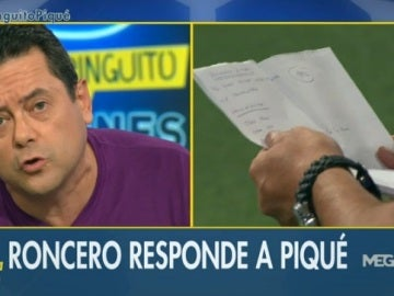 Roncero contesta Piqué