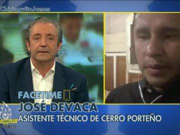 Josep Pedrerol con José Devaca