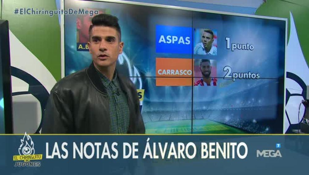 Las Notas de Álvaro Benito y D'Alessandro