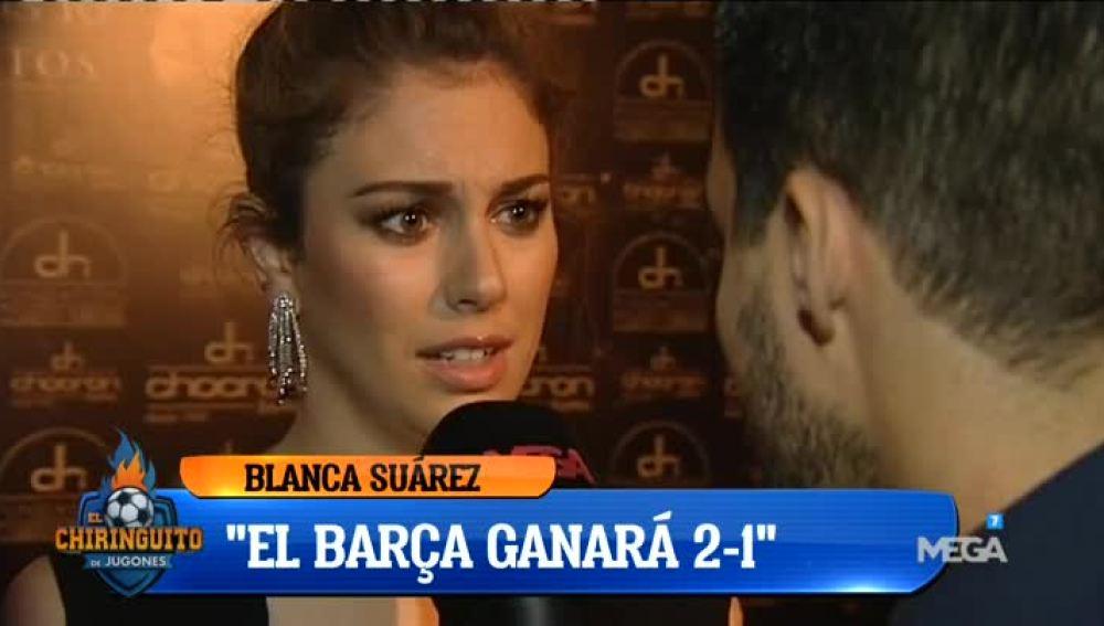 Blanca Suárez 'se moja' con un resultado para el Clásico