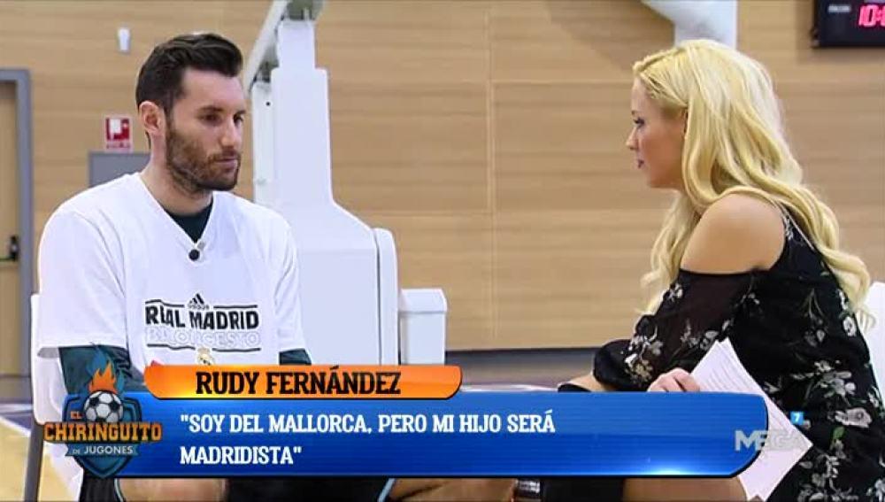 Laura Gadea, con Rudy Fernández