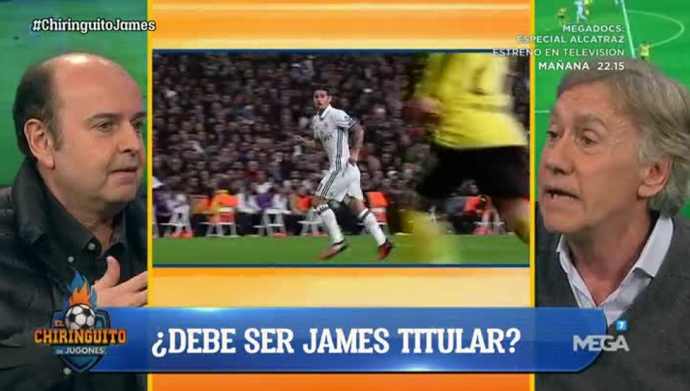 ¿Debe ser titular James?