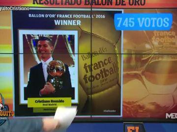La clasificación final del Balón de Oro