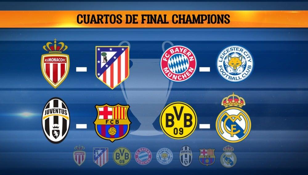 Así queda el sorteo de cuartos de final de la Champions de El ...