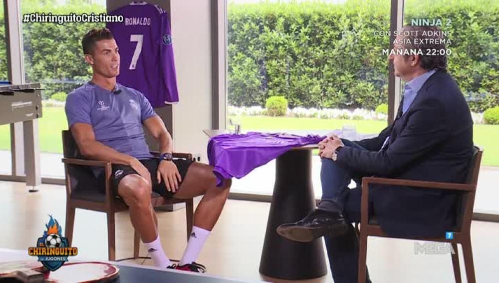 Cristiano Ronaldo y Josep Pedrerol