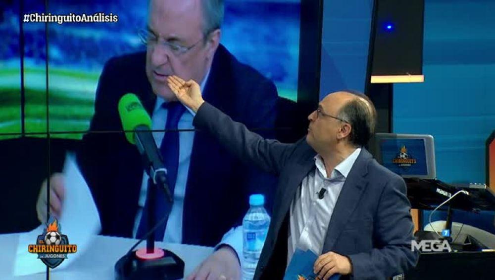Ovejano analiza los gestos de Florentino Pérez