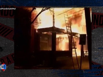 Las llamas ponen en peligro la vida de John Ben