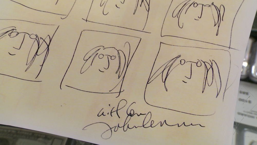 ¿Cuánto cuesta un dibujo original hecho por John Lennon?