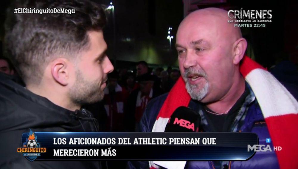 La afición del Athletic creía que merecía la victoria ante el Barça
