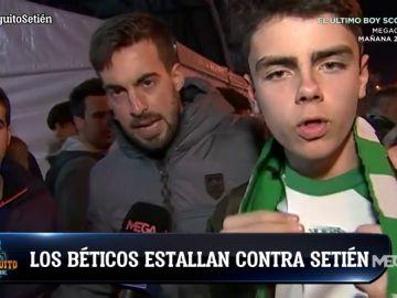 Enfado monumental de la afición del Betis con Setién tras la eliminación
