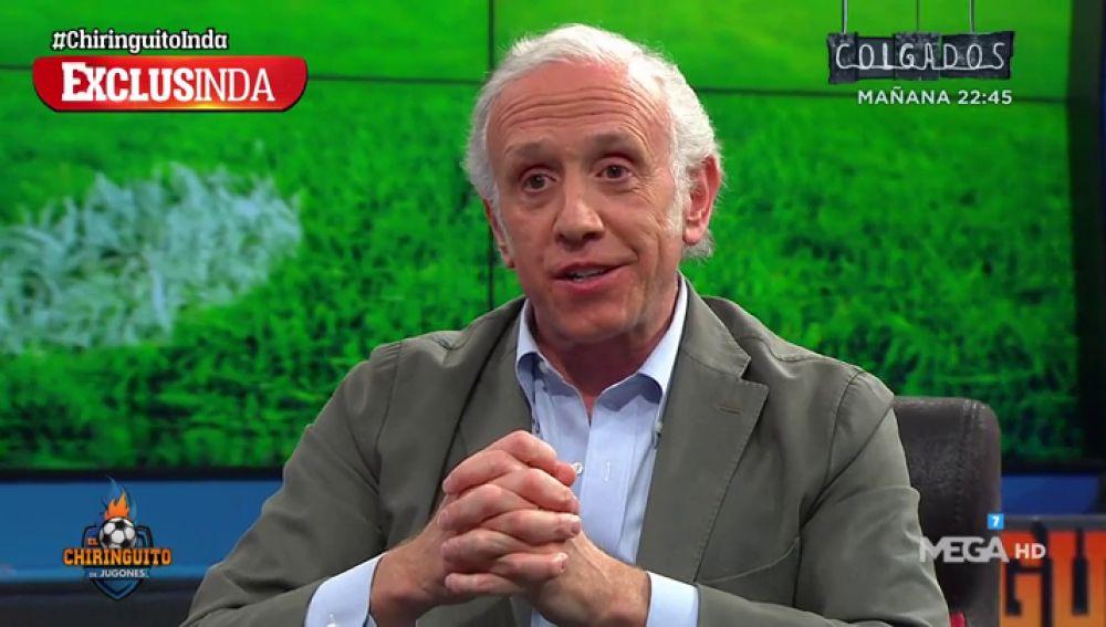 """Eduardo Inda: """"Hay jugadores del Real Madrid que quieren que el Atleti elimine a la Juve de Cristiano"""""""