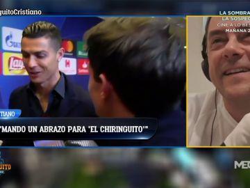 """Cristiano Ronaldo: """"Un saludo al Chiringuito, a Roncero y a todo amante del Madrid"""""""