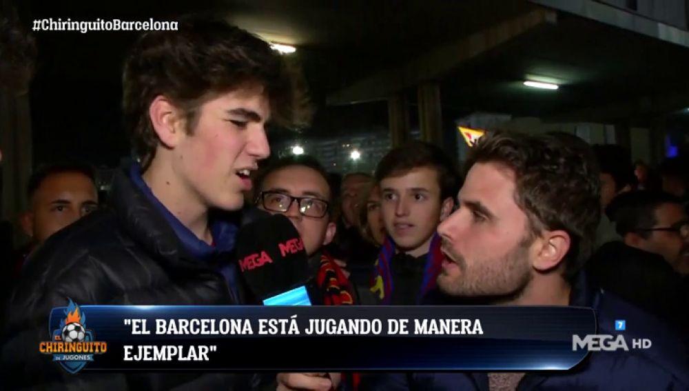 La afición del Barça se rinde a Leo Messi