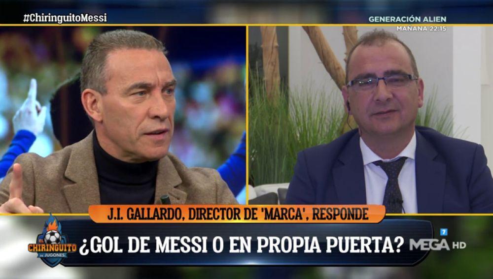 Los tertulianos de El Chiringuito se 'mojan': ¿Gol de Messi o gol en propia puerta?
