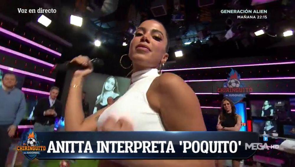 Anitta presenta su nuevo disco en El Chiringuito de Jugones