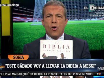 """Cristóbal Soria: """"Este sábado le voy a llevar la Biblia a Messi y va a escribir en ella"""""""