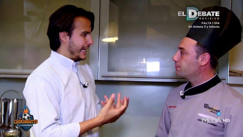 """Juanfe Sanz con Alberto Mastromatteo, el cocinero de Benzema: """"Ha perdido entre cinco y ocho kilos"""""""