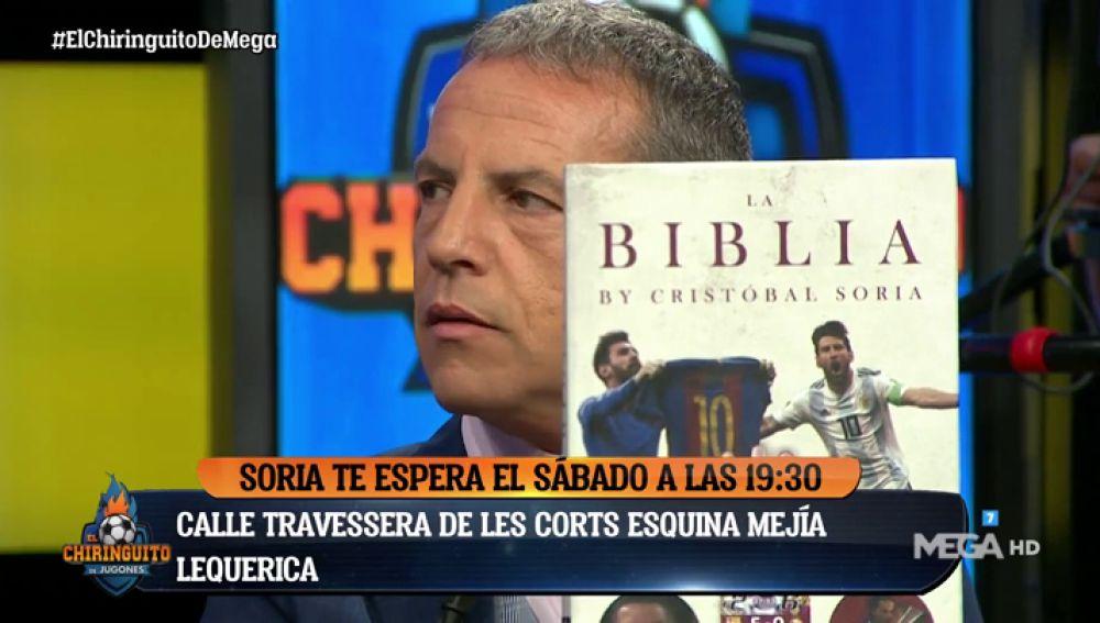 """Cristóbal Soria: """"Voy a llevar la 'Biblia' al templo de su Santidad y que la cosa fluya"""""""