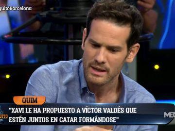 """Quim Domènech: """"Xavi le ha propuesto a Valdés irse a Qatar"""""""
