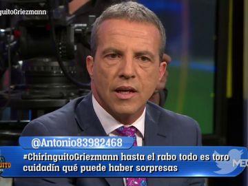 """Cristóbal Soria: """"En el vestuario del Barça se están frontando las manos con la llegada de Griezmann"""""""