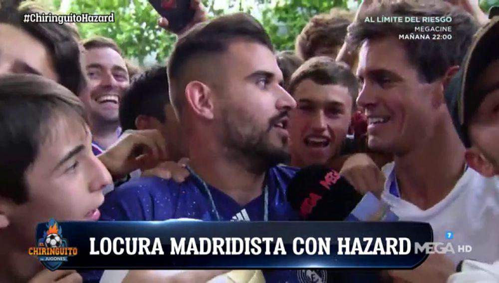 La afición del Real Madrid, 'desatada' en la presentación de Hazard