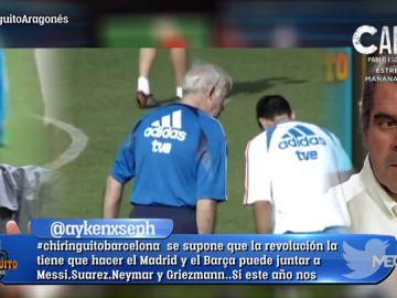 """Luis Aragonés: """"Mi padre me dijo que Raúl no entraba en lo que quería hacer con la Selección"""""""