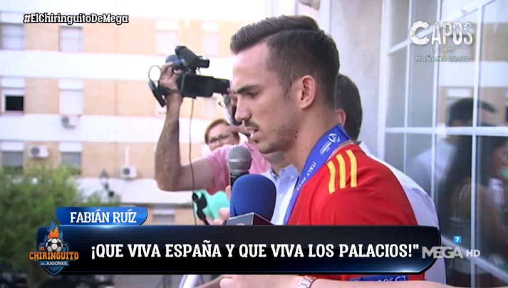 Fabián Rodríguez recibe el homenaje de sus vecinos tras ganar el Europeo Sub21