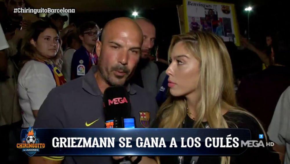 La afición del Barça se ilusiona con Griezmann