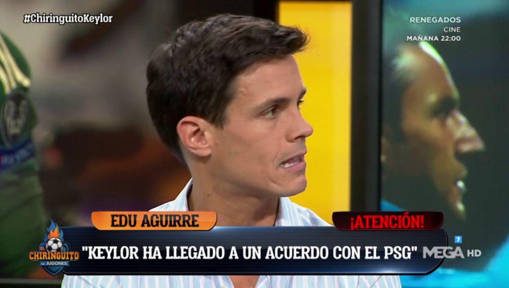 """Edu Aguirre: """"Keylor Navas ha alcanzado un acuerdo con el PSG por 4 años"""""""
