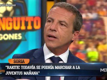 """Cristóbal Soria: """"Rakitic aún podría irse a la Juventus"""""""