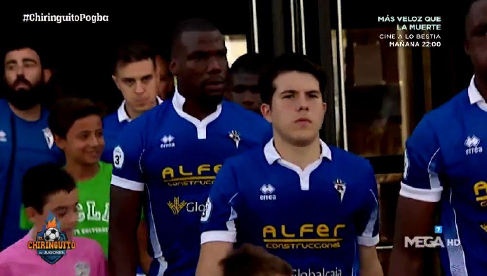 Mathias Pogba debuta con el CD Manchego en el derbi ante el Calvo Sotelo