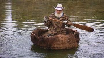 Una canoa de piel