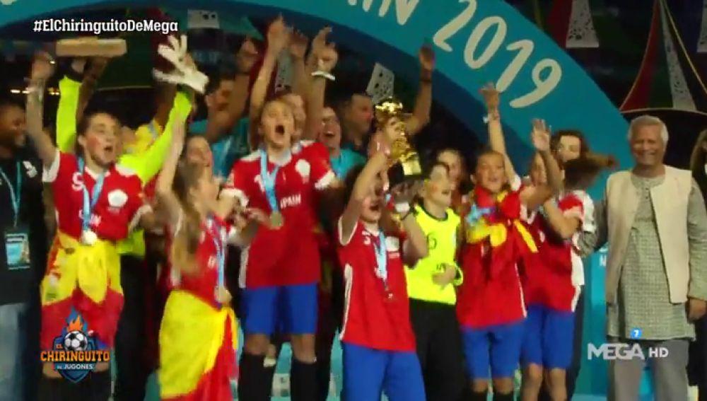 España: Campeones y subcampeones del mundo de la Danone Nations Cup