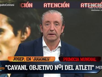 """Josep Pedrerol: """"Cavani es el objetivo número 1 del Atlético de Madrid para la próxima temporada"""""""