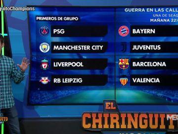 Los posibles choques de octavos de la Champions, analizados en El Chiringuito
