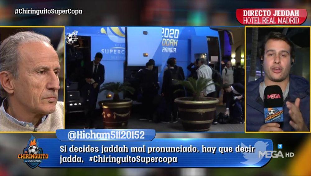 "Juanfe Sanz, desde Jeddah: ""En el vestuario del Real Madrid van a 'muerte' a por la Supercopa"""