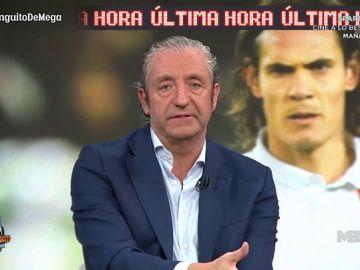 """Josep Pedrerol: """"El entorno de Cavani es pesimista respecto a su fichaje en enero por el Atlético"""""""