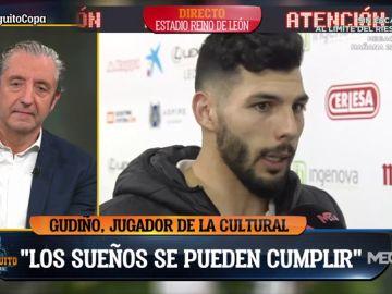 """Gudiño, jugador de la Cultural Leonesa: """"Es un día soñado para todos, equipo, afición..."""""""