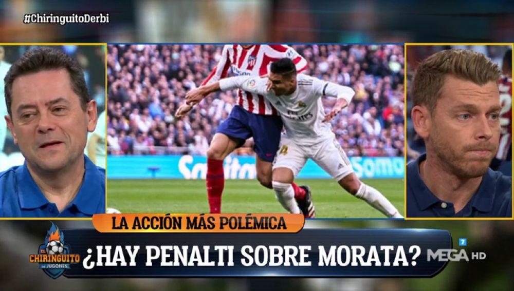 ¿Es penalti de Casemiro a Morata? Los tertulianos 'se mojan'