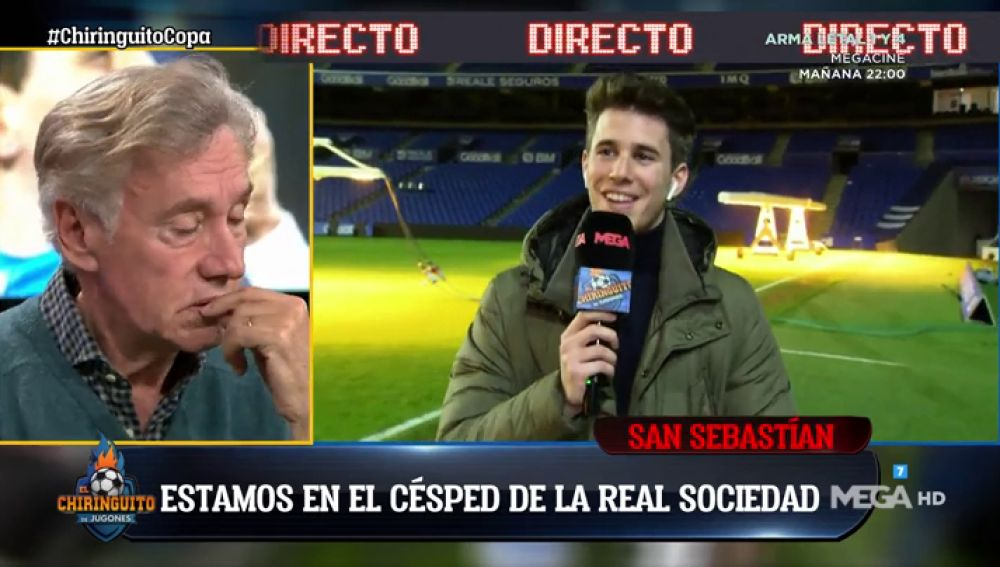 Álex Silvestre muestra qué ve un futbolista cuando salta al Reale Arena