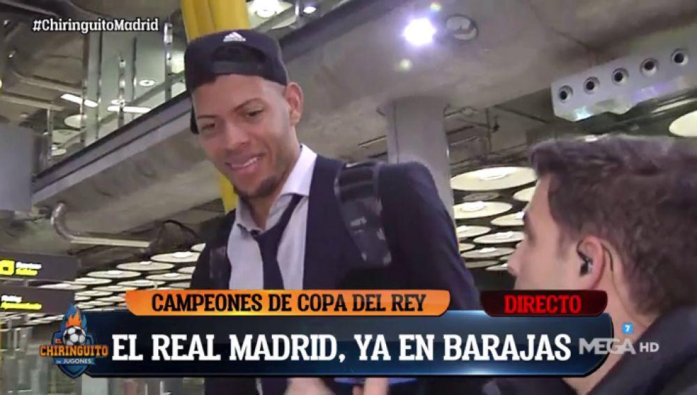 El Chiringuito 'caza' a los jugadores del Real Madrid en el aeropuerto tras ganar la Copa ACB