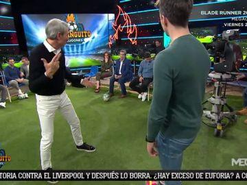 Lobo Carrasco explica cómo se defiende a un rival en función de su pierna buena