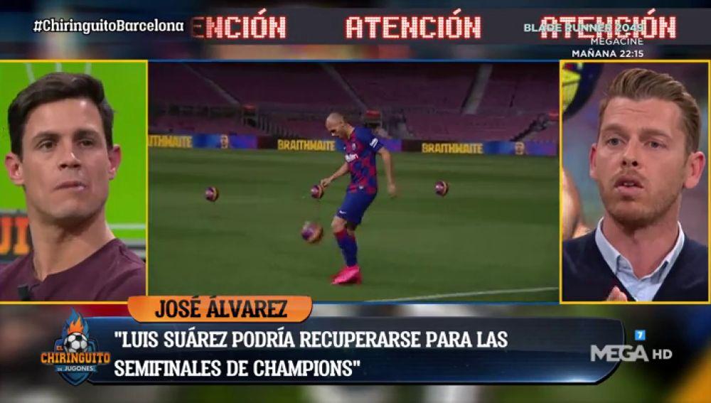 "José Álvarez: ""El vestuario del Barça ve bien la llegada de Braithwaite"""