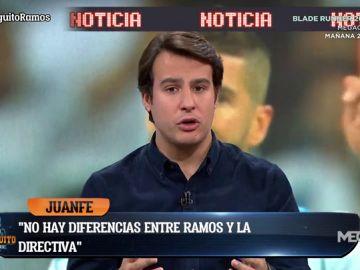 """Juanfe Sanz: """"La relación entre Ramos y Florentino es inmejorable"""