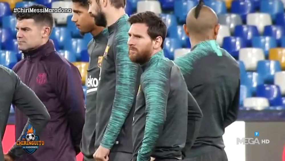 Messi, el centro de atención en Nápoles, la casa de Maradona