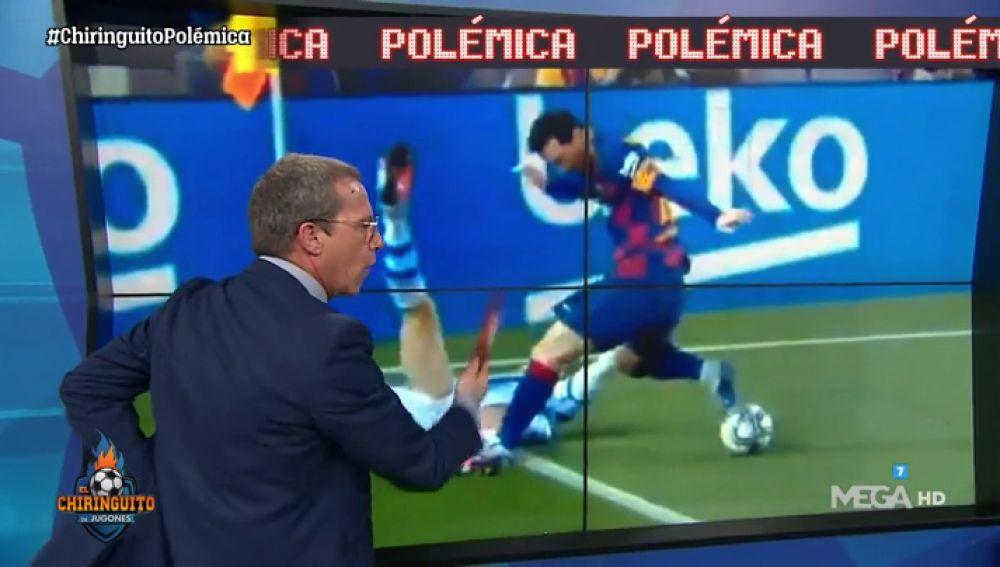 ¿Debió ser expulsado Messi por este pisotón?
