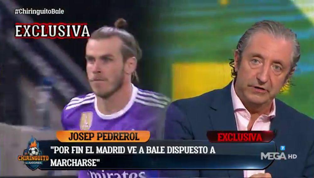 """Josep Pedrerol: """"BALE está DISPUESTO a MARCHARSE del Real MADRID""""."""